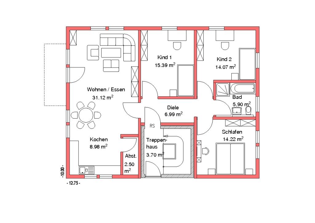Treppenhaus zweifamilienhaus  Zweifamilienhäuser