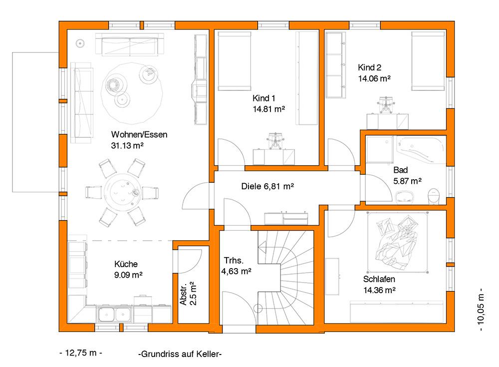 das kundenhaus kaiser ist ein mehrfamilienhaus im stil einer sdlichen sommerresidenz es kann als zwei oder dreifamilienhaus ausgefhrt werden - Mehrfamilienhaus Grundriss Beispiele