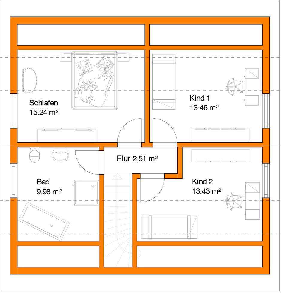 Fein kinderzimmer grundriss beispiele fotos die for Quadratisches jugendzimmer einrichten