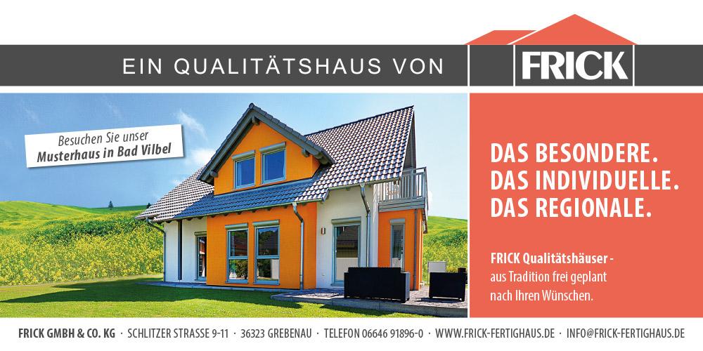 FRICK – Das Qualitätshaus – Ihr Haus aus dem Vogelsberg